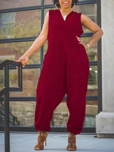 Load image into Gallery viewer, V-Neck Sleeveless Jumpsuit