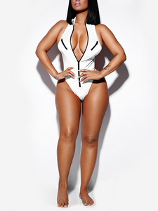 Zip Front One-piece Swimsuit