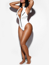 Load image into Gallery viewer, Zip Front One-piece Swimsuit