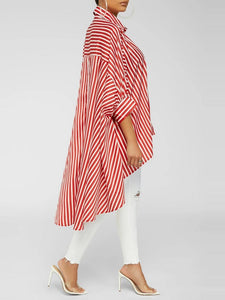 Stripe High-Low Shirt