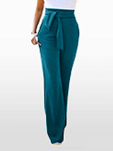 Solid Wild Pants with Belt (1377111965813)