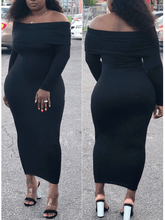 Load image into Gallery viewer, Off Shoulder Pencil Dress