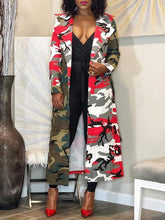 Load image into Gallery viewer, Camo Combo Trench Coat---Only S Left