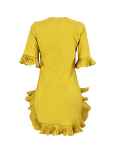 Asymmetric Frilled Dress