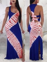 Load image into Gallery viewer, Print Cutout Maxi Dress