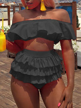 Load image into Gallery viewer, Off-Shoulder Ruffle Bikini