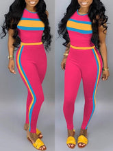 Load image into Gallery viewer, Colorblock Tank Top & Pants Set