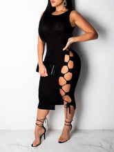 Load image into Gallery viewer, Lace-Up Bodycon Dress - Only S/L Left
