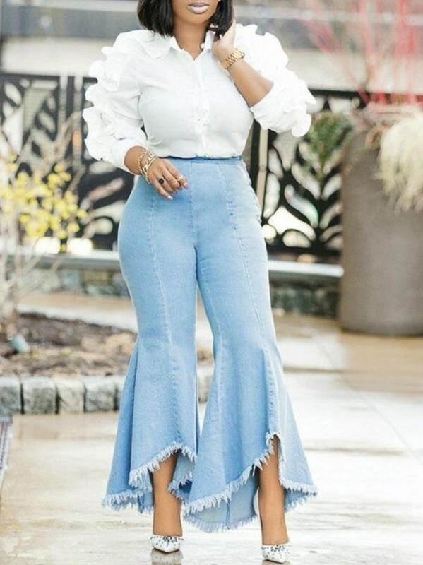 Flared Ankle Jeans