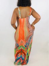 Load image into Gallery viewer, Sleeveless Printed Maxi Dress