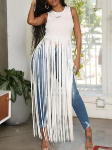 Fringe Combo Top - clearance
