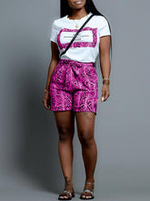 Load image into Gallery viewer, Snake Printed Tee & Shorts Set