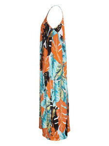 Printed V-Neck Cami Dress