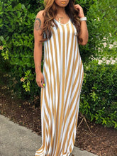 Load image into Gallery viewer, Stripe Cami Maxi Dress