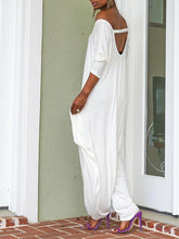 Load image into Gallery viewer, White Cutout Slouchy Jumpsuit