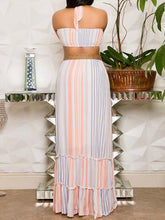 Load image into Gallery viewer, Stripe Halter Cutout Dress