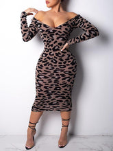 Load image into Gallery viewer, Leopard Bodycon Dress
