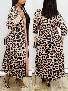 Print Bishop Sleeve Duster - Only Coral Left
