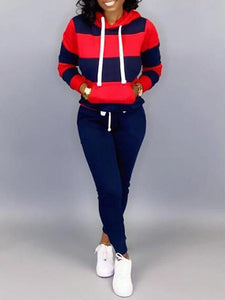 Two-Tone Hoodie & Pants Set