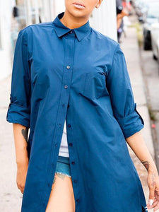 Tabbed Sleeve Shirt/Dress - only L left
