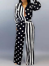 Load image into Gallery viewer, Stripe & Dot Combo Jumpsuit