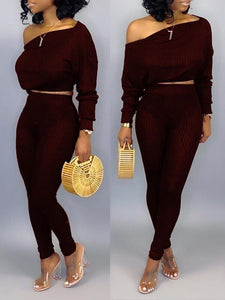 Ribbed Top & Pants Set