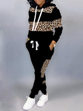 Load image into Gallery viewer, Leopard Combo Hoodie & Pants Set