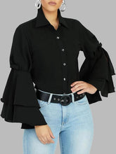 Load image into Gallery viewer, Tiered Bell-Sleeve Shirt