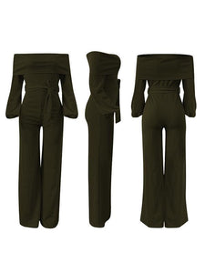 Fold-over Belted Jumpsuit