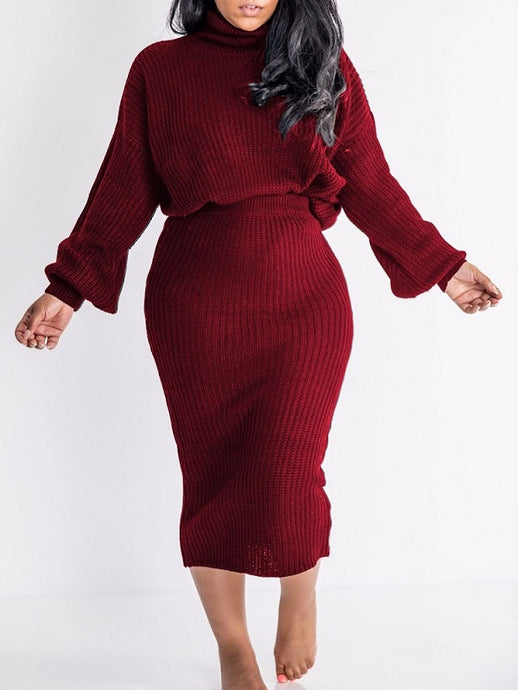 Knit Sweater & Skirt Set