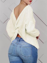 Load image into Gallery viewer, Twisted Back Sweater