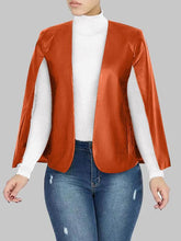 Load image into Gallery viewer, Faux Leather Cape Jacket