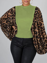 Load image into Gallery viewer, Leopard Dolman Sleeve Top