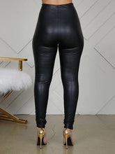 Load image into Gallery viewer, High-Waist Faux-Leather Leggings