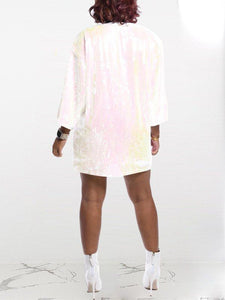Slogan Sequin Dress
