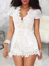 Load image into Gallery viewer, V-Neck Lace Romper