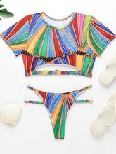 Load image into Gallery viewer, Stripe Cutout Bikini