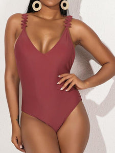 Frilled Tied One-Piece Swimsuit