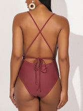 Load image into Gallery viewer, Frilled Tied One-Piece Swimsuit