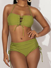 Load image into Gallery viewer, Halter Lace-Up Bikini
