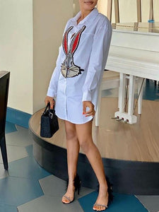 Bunny Shirt Dress - only Black/M left