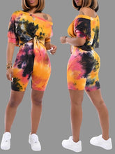 Load image into Gallery viewer, Multilcolor Print Top & Shorts Set