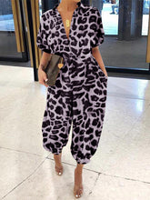 Load image into Gallery viewer, Leopard Panama Jumpsuit