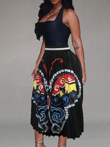 Butterfly Pleated Skirt