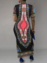 Load image into Gallery viewer, Dashiki Maxi Dress - only Blue/S left