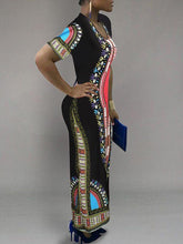 Load image into Gallery viewer, Dashiki Maxi Dress