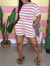 Load image into Gallery viewer, Stripe Tied Romper