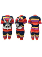 Load image into Gallery viewer, Stripe Bunny Tee & Biker Shorts Set