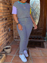 Load image into Gallery viewer, Stripe Tee & Pants Set