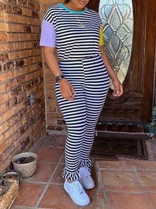 Stripe Tee & Pants Set